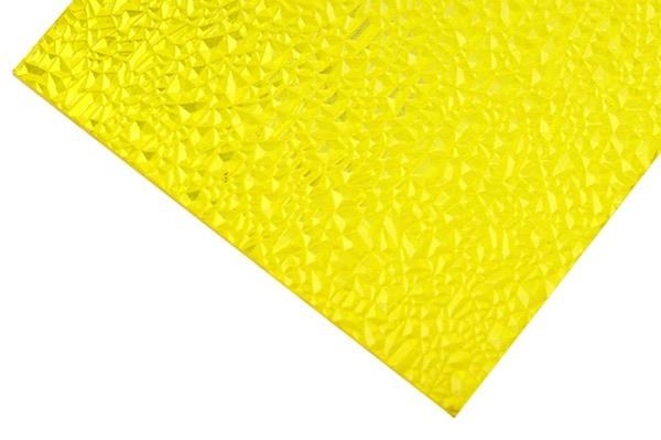 黄色テクスチャーポリカーボネート板