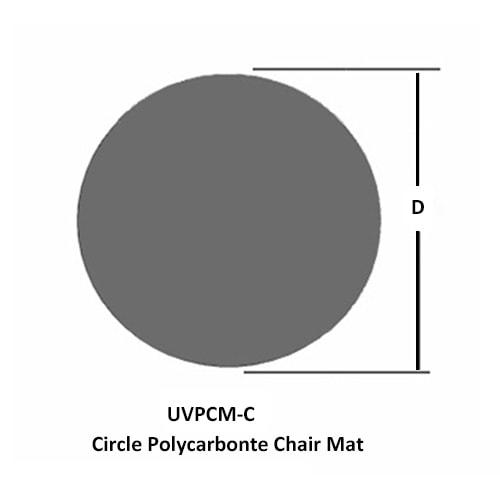 丸型ポリカーボネートチェアマット