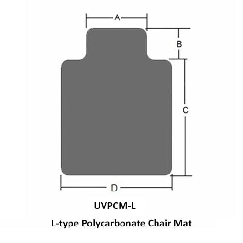 L型 ポリカーボネートチェアマット