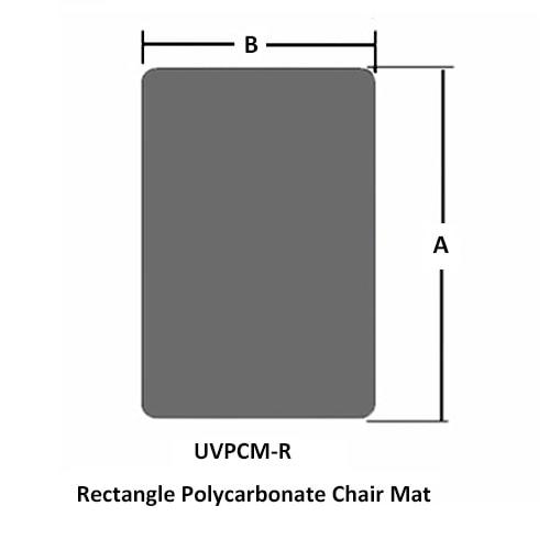 長方形ポリカーボネートチェアマット