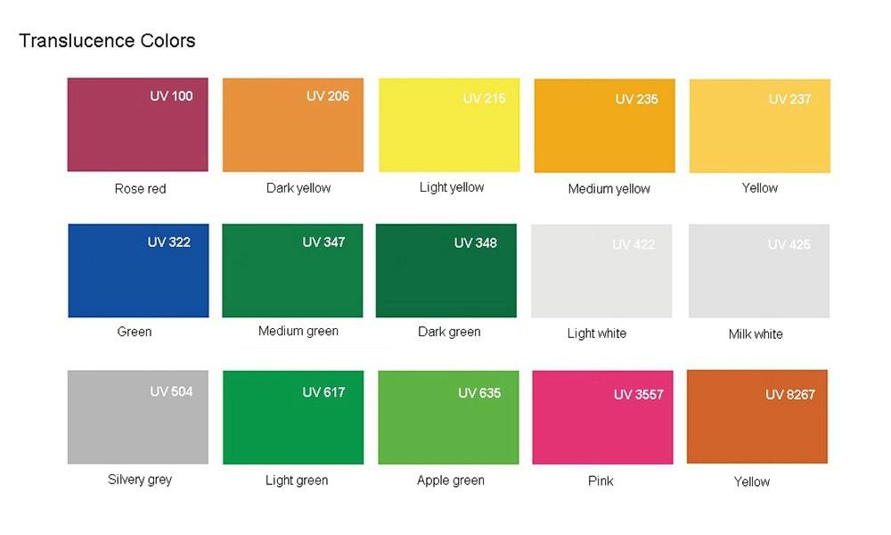 半透明の色のアクリル板