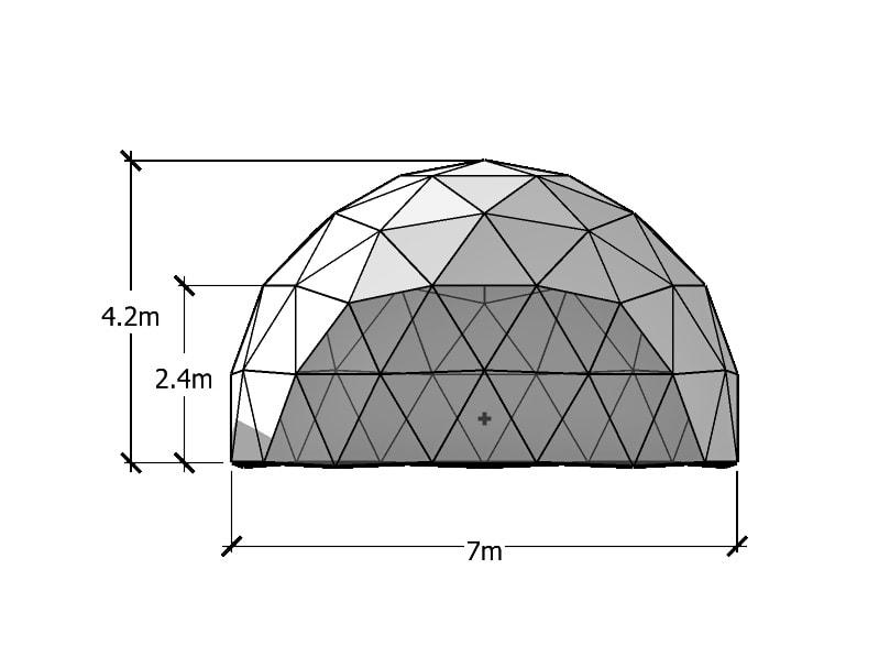 7m ジオデシックドーム