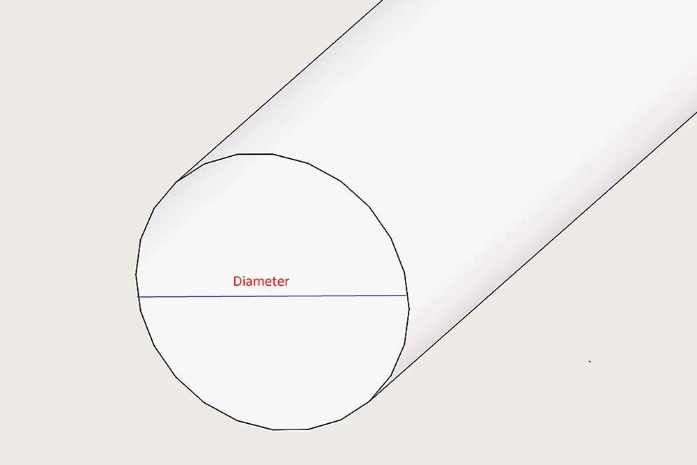 アクリル丸棒の直径