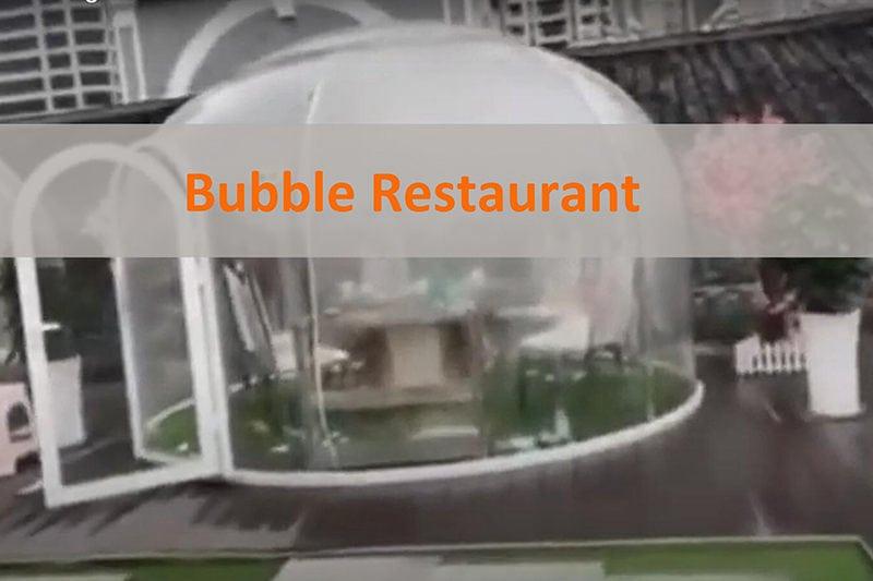 バブルドームのディナールーム