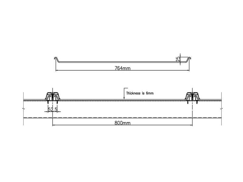 ポリカーボネート屋根板の図面