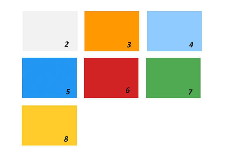 ポリカーボネートの色範囲