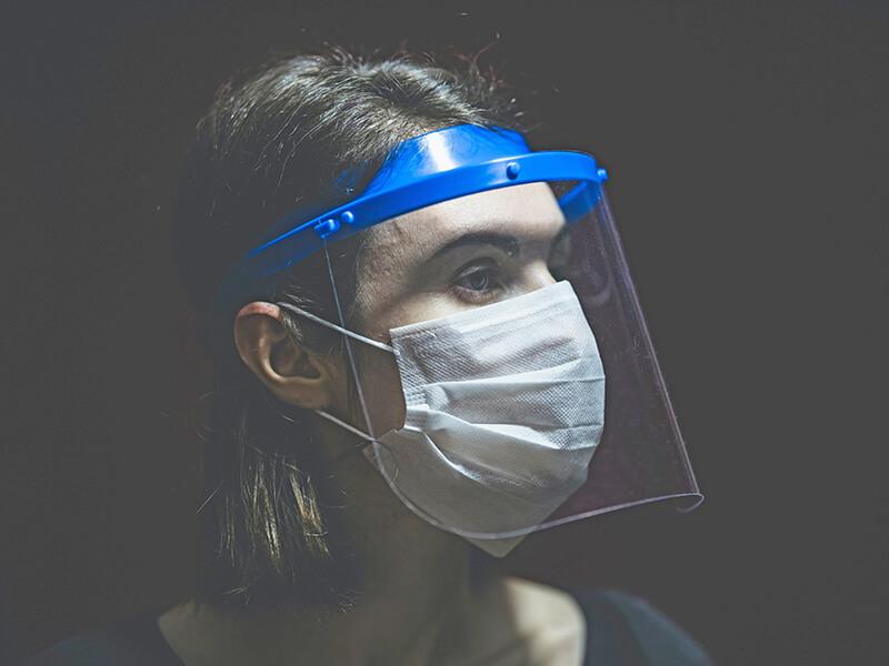 フェイスマスク ポリカーボネートフィルム