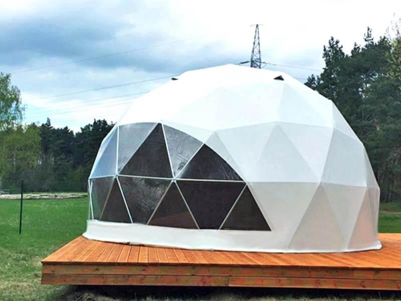 6メートルジオデシックドームテント